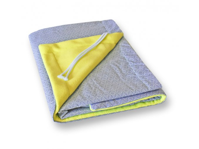 GADEO Deka fleecová Kaleidoskop žlutá