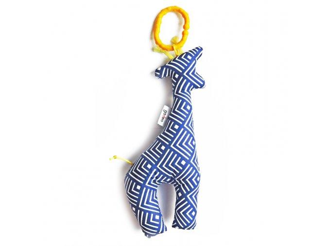 Gadeo závěsná dekorace/hračka Žirafa modrá