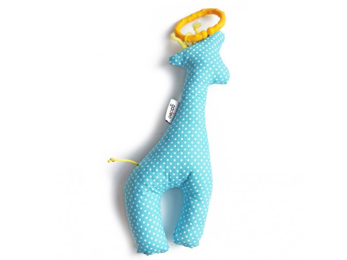 Gadeo závěsná dekorace/hračka Žirafa tyrkys