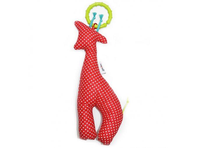 Gadeo závěsná dekorace/hračka Žirafa červená