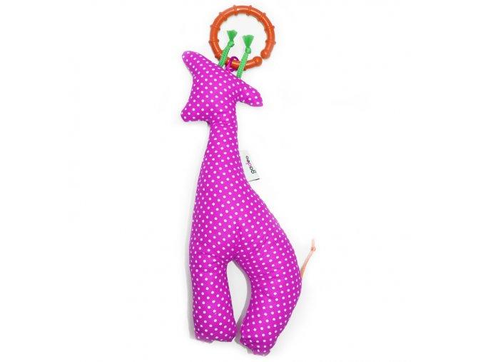 Gadeo závěsná dekorace/hračka Žirafa fuchsie