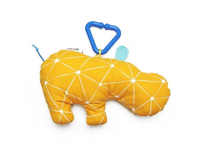 Gadeo závěsná dekorace/hračka Hroch žlutý