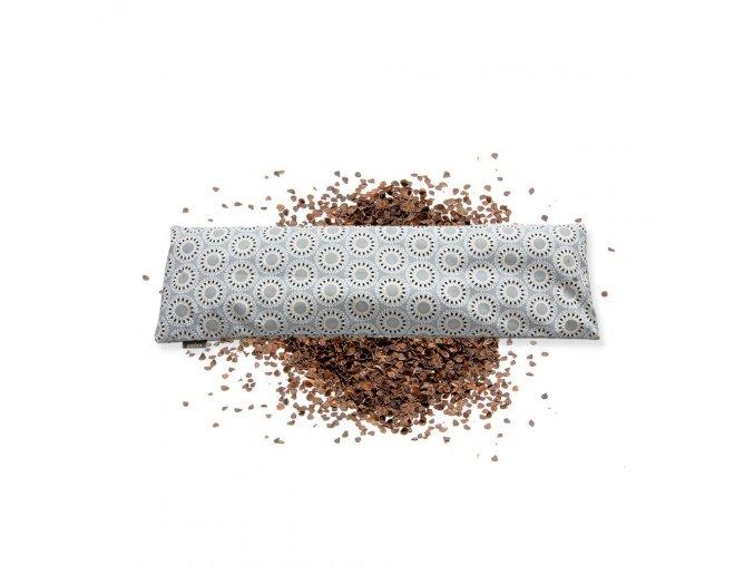 GADEO Pohankový bederní polštářek MANDALA šedá  nahřívací