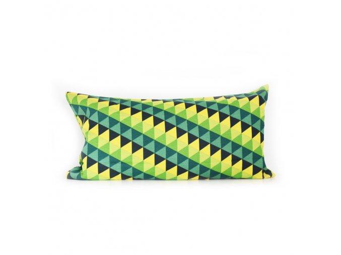 GADEO dekorační povlak na polštář TROJÚHELNÍKY zelené II