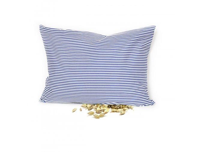GADEO Špaldový polštářek BLUE, proužky