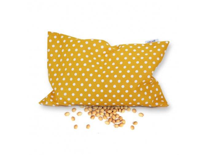 GADEO Třešňový polštářek DOTS mustard