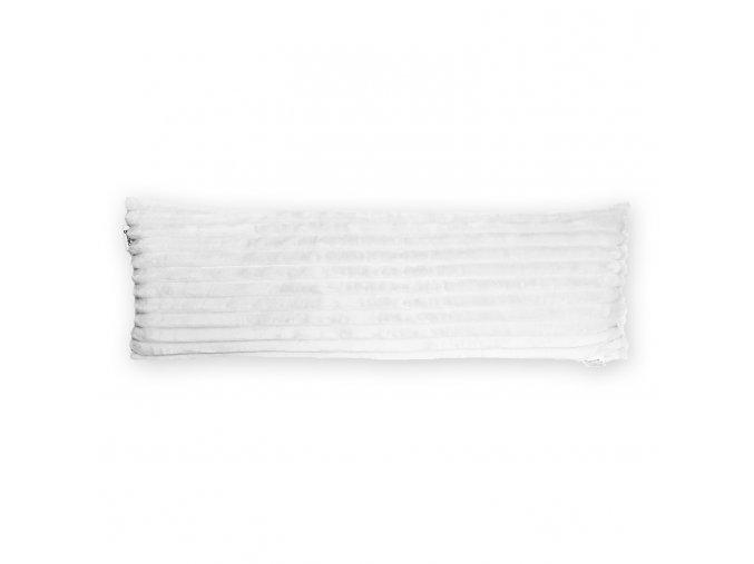 GADEO dekorační polštář MINKY STRIPES bílá