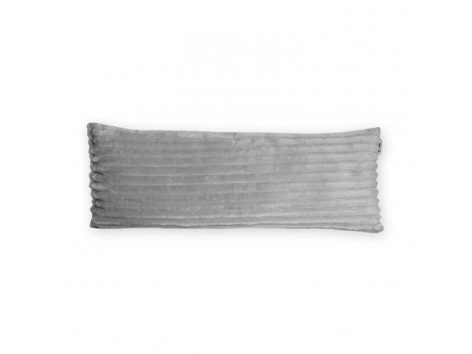 GADEO dekorační polštář MINKY STRIPES šedá