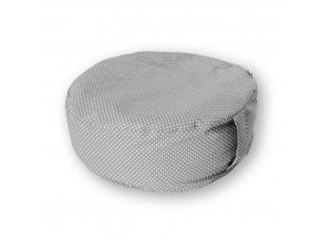 GADEO Pohankový meditační sedák LITTLE DOTS grey