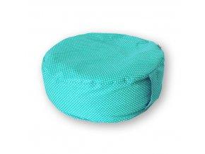 Pohankový meditační sedák LITTLE DOTS tyrkys (Baleno v průhledném úložném vaku)