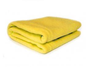 GADEO Deka fleecová PASTEL žlutá