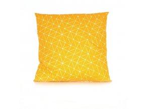 GADEO dekorační povlak na polštář LINIE yellow