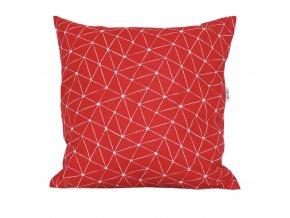 GADEO dekorační povlak na polštář LINIE red