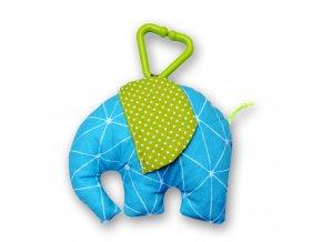 Gadeo závěsná dekorace/hračka Slon tyrkys