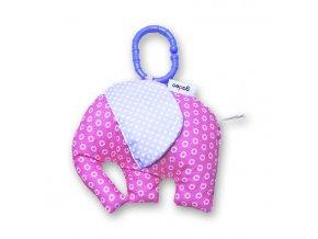 Gadeo závěsná dekorace/hračka Slon růžový
