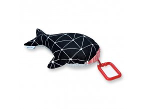 Gadeo závěsná dekorace/hračka Velryba černá