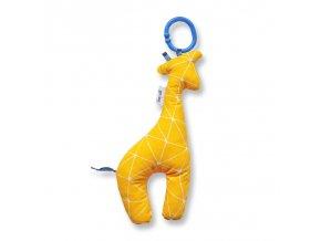Gadeo závěsná dekorace/hračka Žirafa žlutá