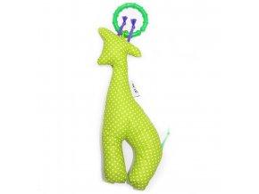 Gadeo závěsná dekorace/hračka Žirafa limetka