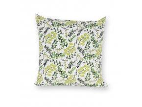 GADEO dekorační povlak na polštář VĚTVIČKY zelené