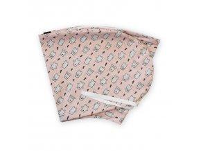 GADEO náhradní povlak ke kojícímu polštáři TEDDY, růžová