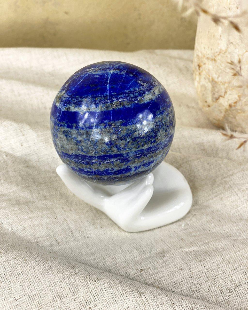 Lapis lazuli broušená koule Afganistan 6cm