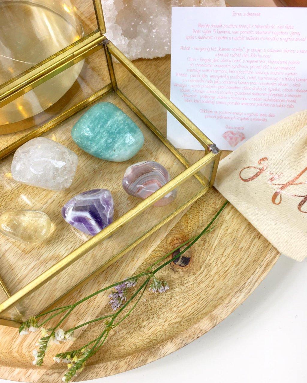 Výběr krystalů a minerálů, co pomohou zahnat stres a deprese