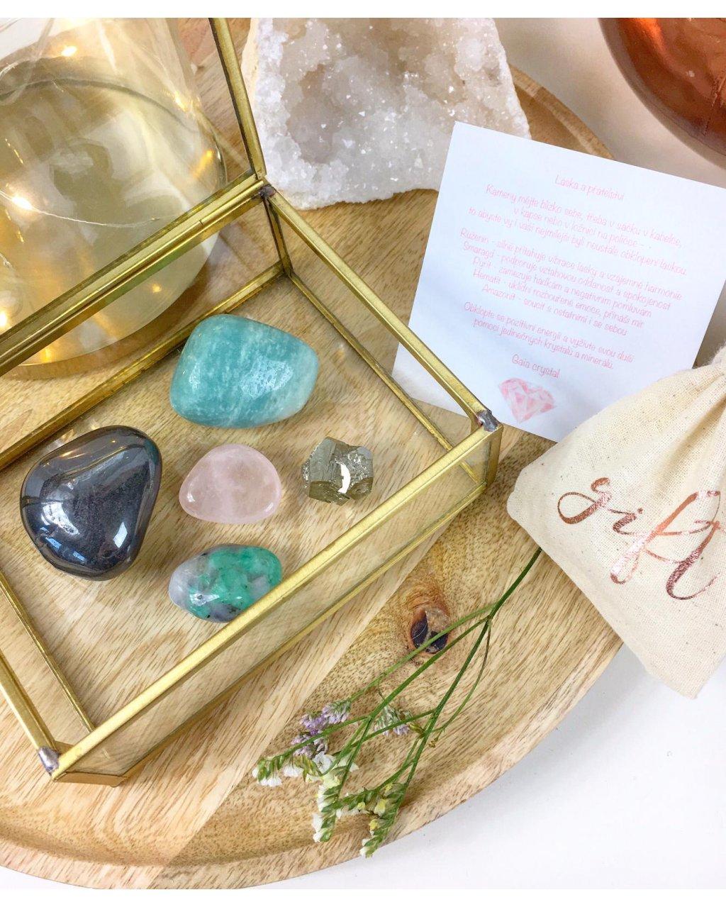 Výběr krystalů a minerálů na podporu lásky