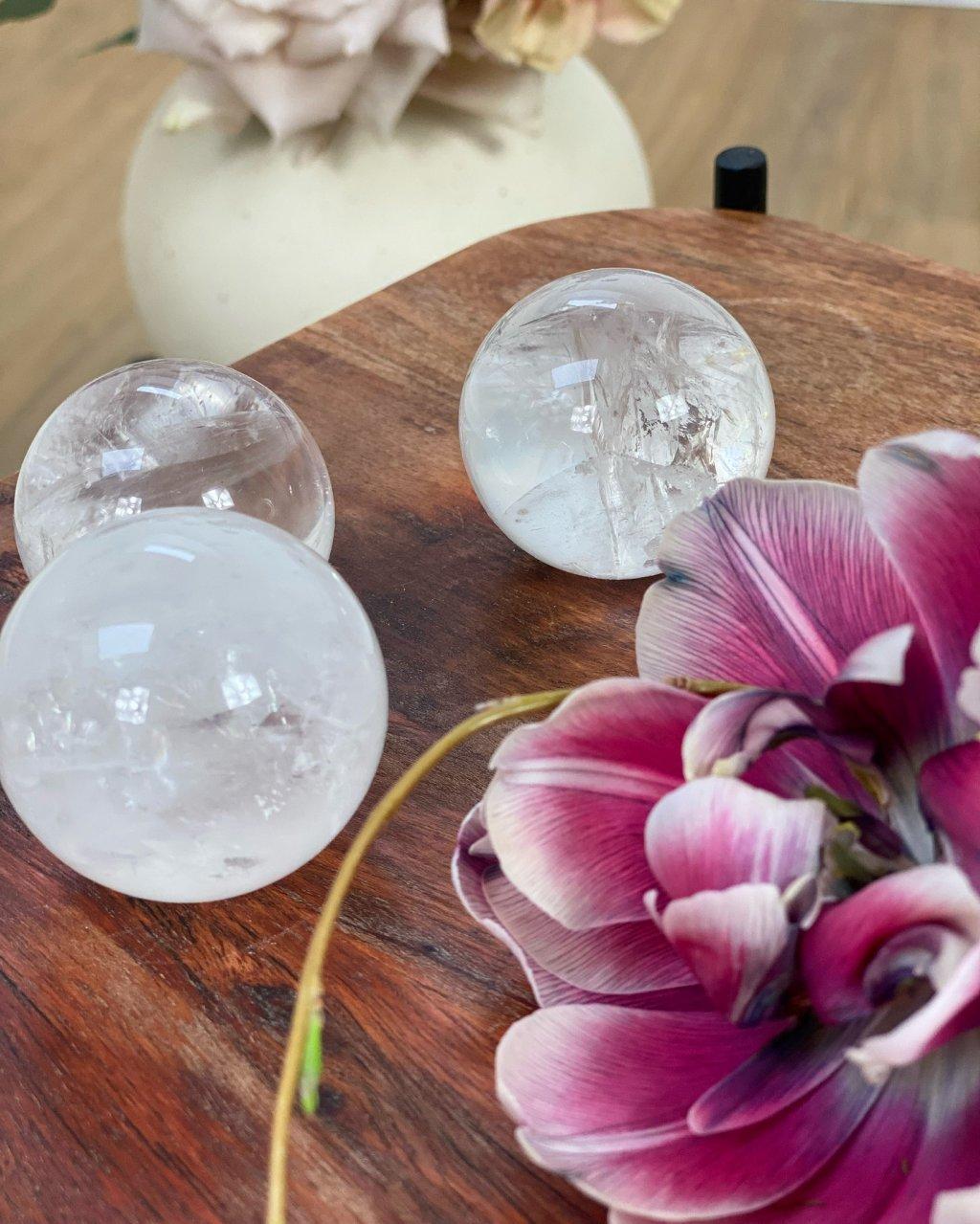 Křišťálová koule Brazílie 6cm 379g