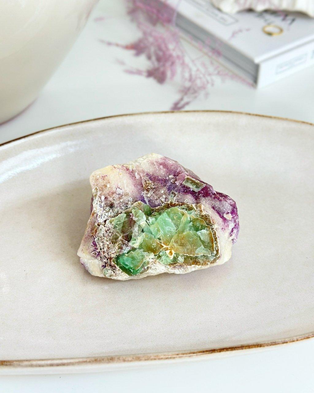 Luxusní polodrahokam fluorit drůza Brazílie TOP