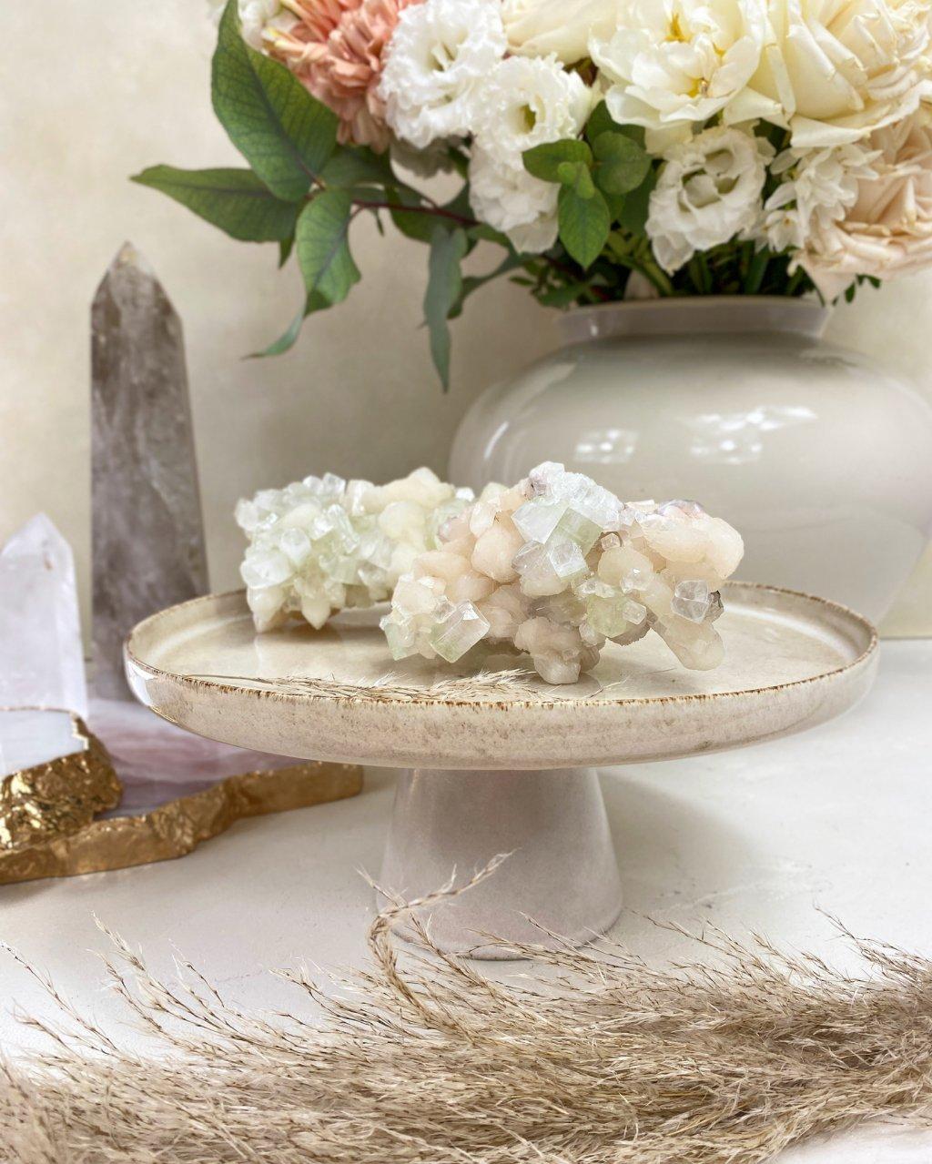 Drahé kameny apofylit drúza Indie AAA kvalita