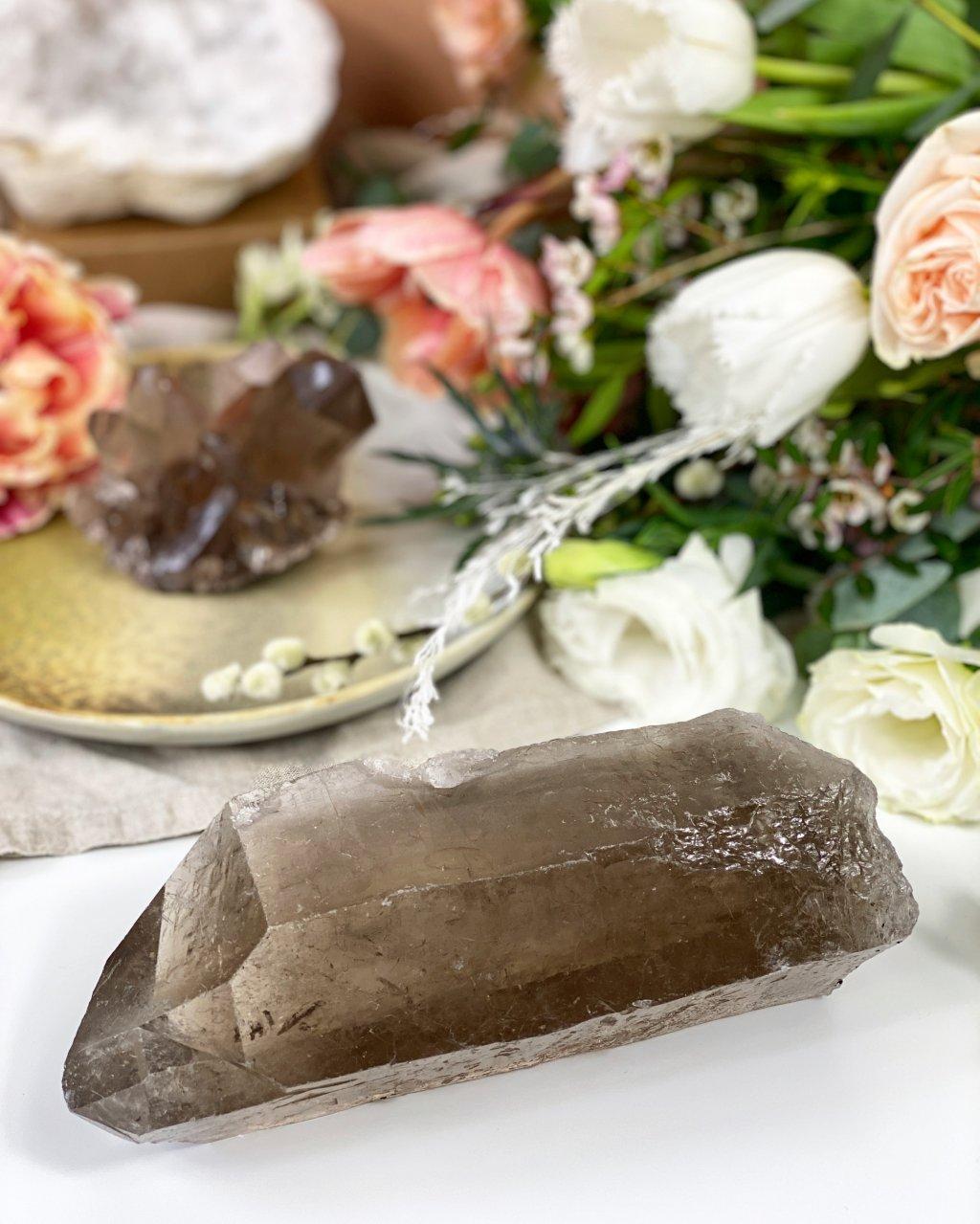 Polodrahokam záhněda krystal maxi Brazílie 18cm