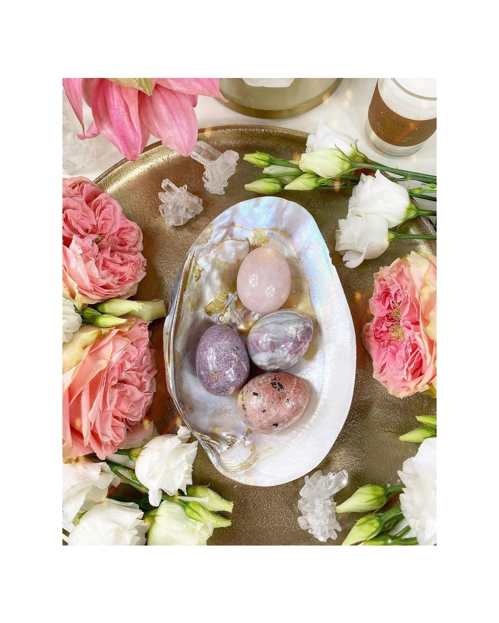 Yoni vajíčko z polodrahokamu růžový opál