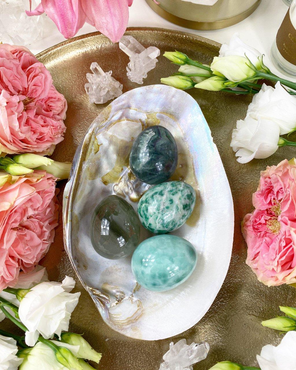 Yoni vajíčko z polodrahokamu jadeit quinghai