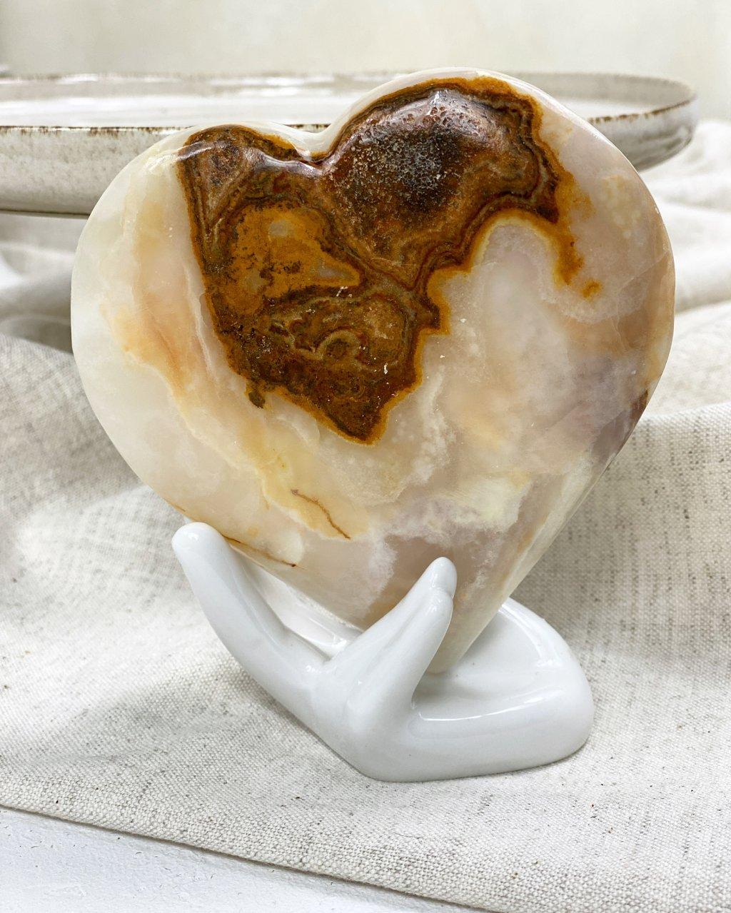 Srdce z onyxu 11cm Pákistán