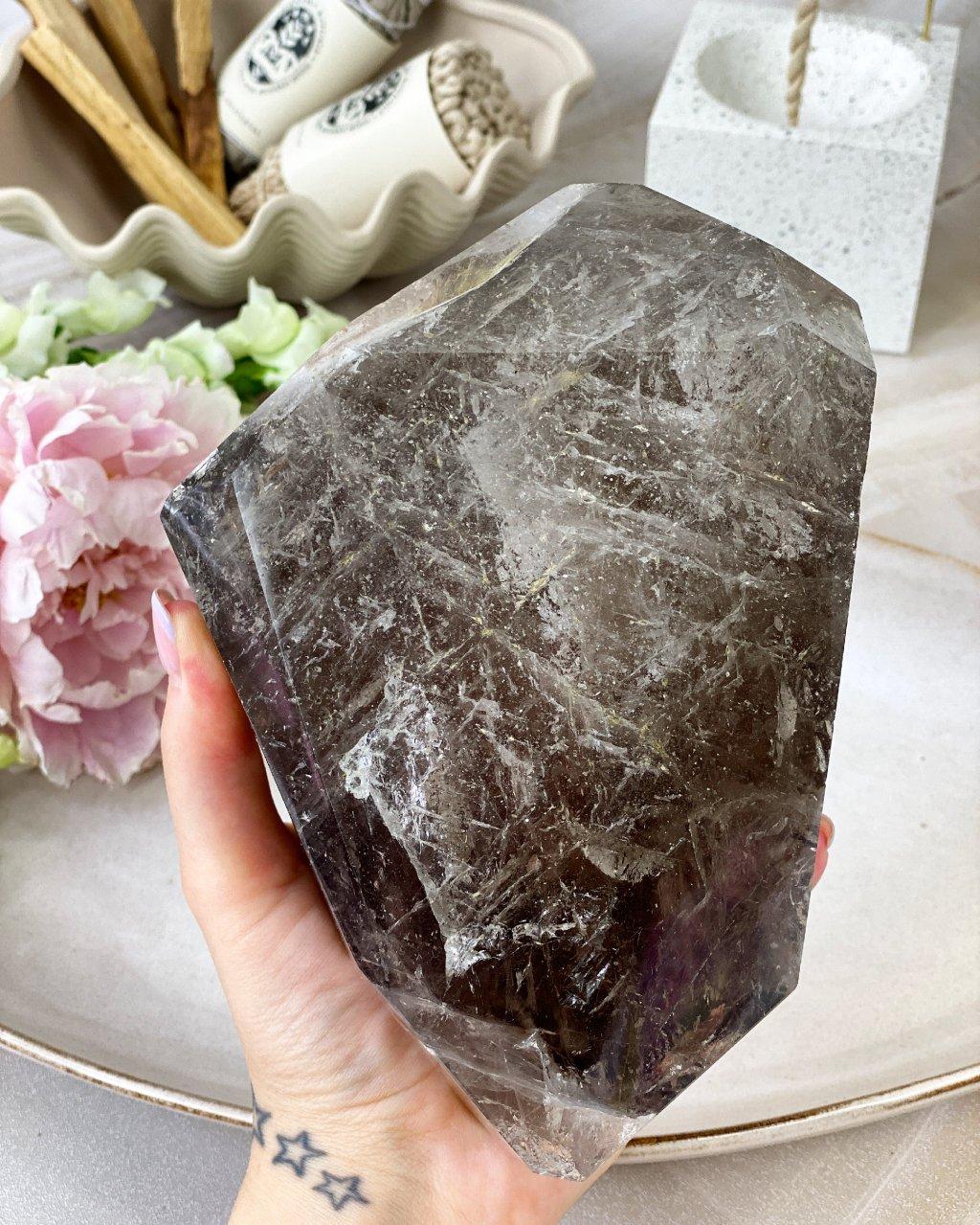 Luxusní záhněda krystal částečně přeleštěný Brazílie 3,8kg