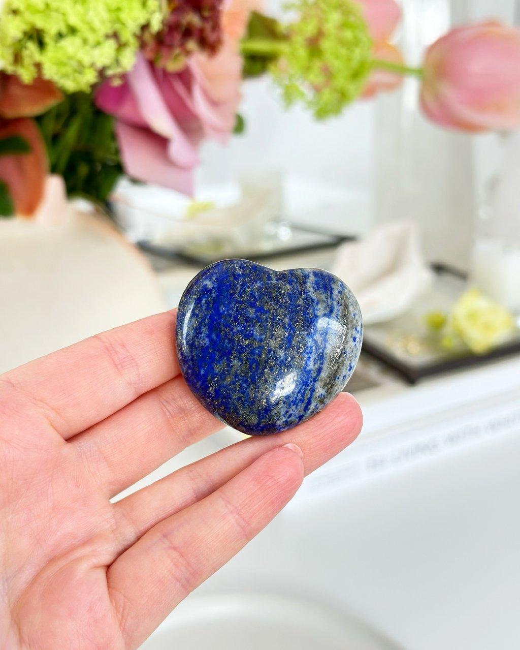Lapis lazuli broušené srdce malé Afganistan