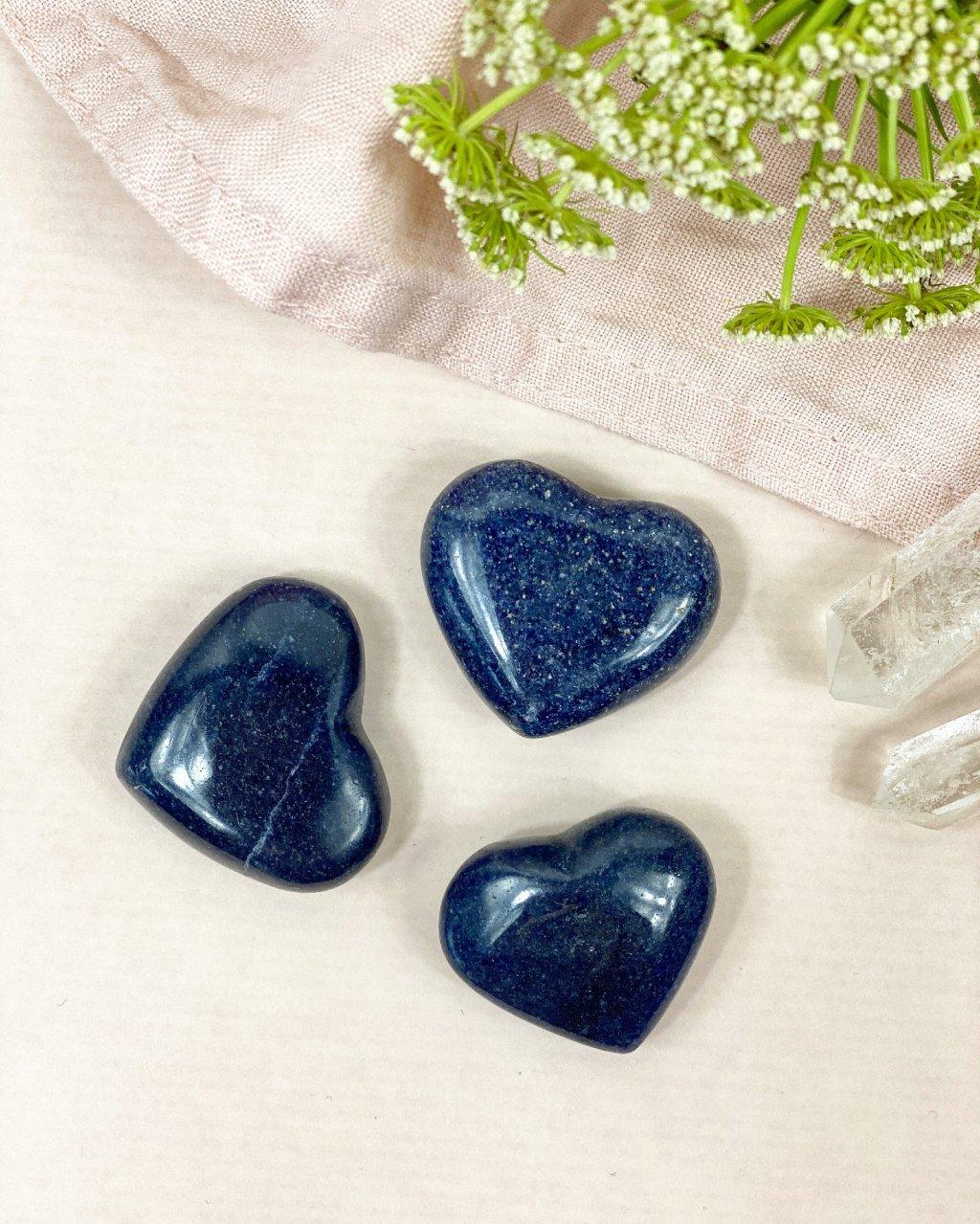 Lazulit broušené srdce malé Madagaskar