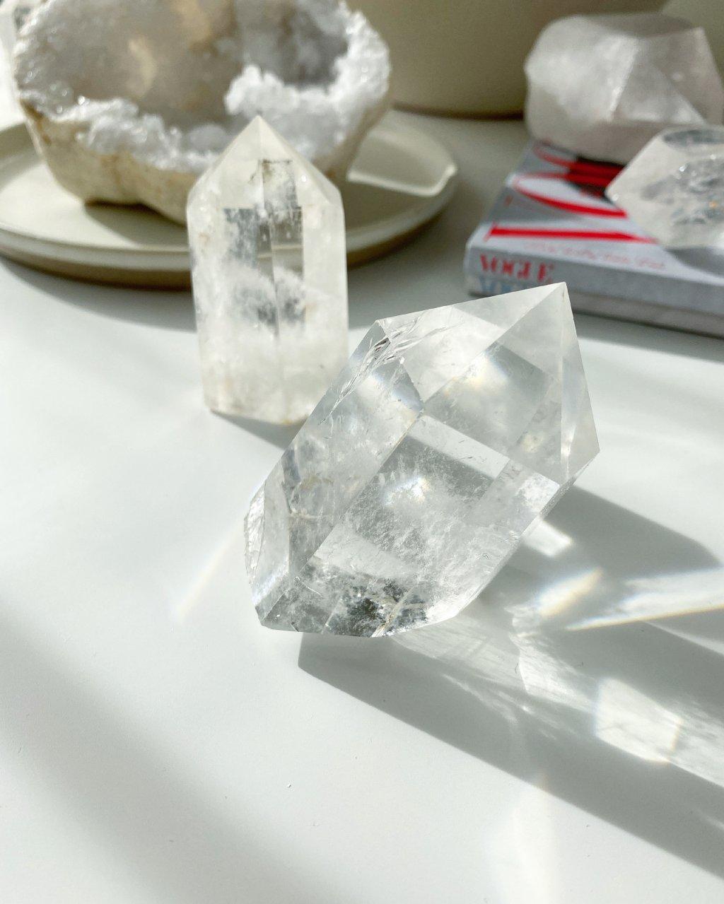Křišťálový krystal broušený Madagaskar 166g