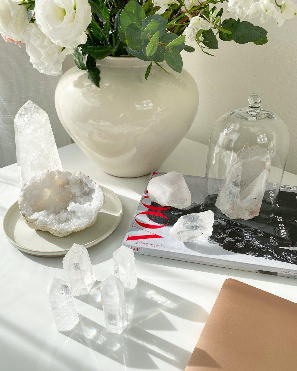 Křišťálový krystal broušený Madagaskar špice