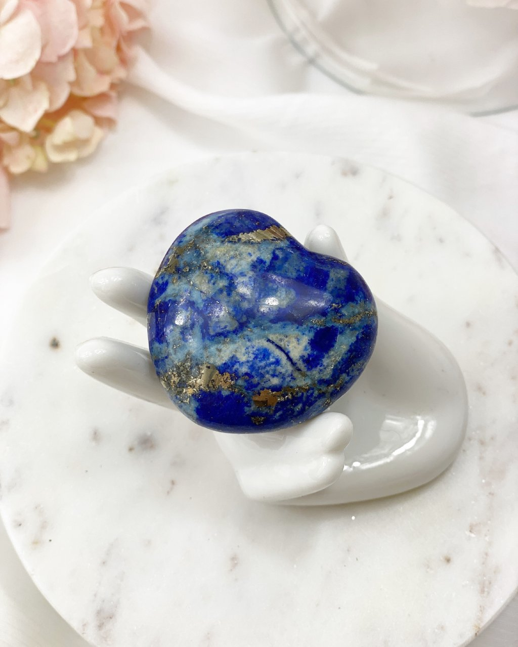 Lapis lazuli broušené srdce 4cm Afganistan