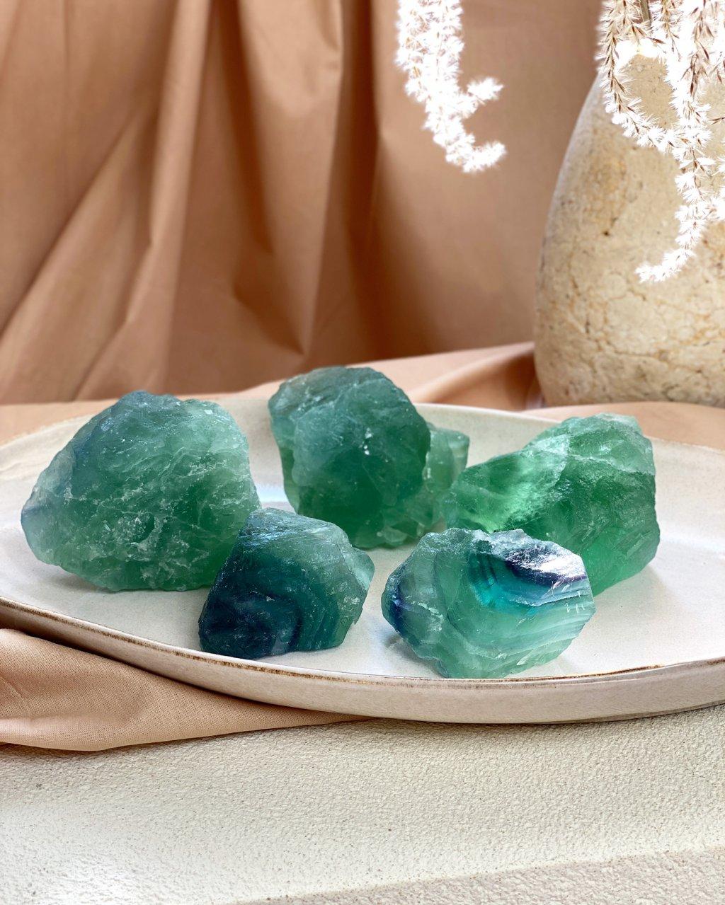 Fluorit modrý surový Čína AAA kvalita 225g