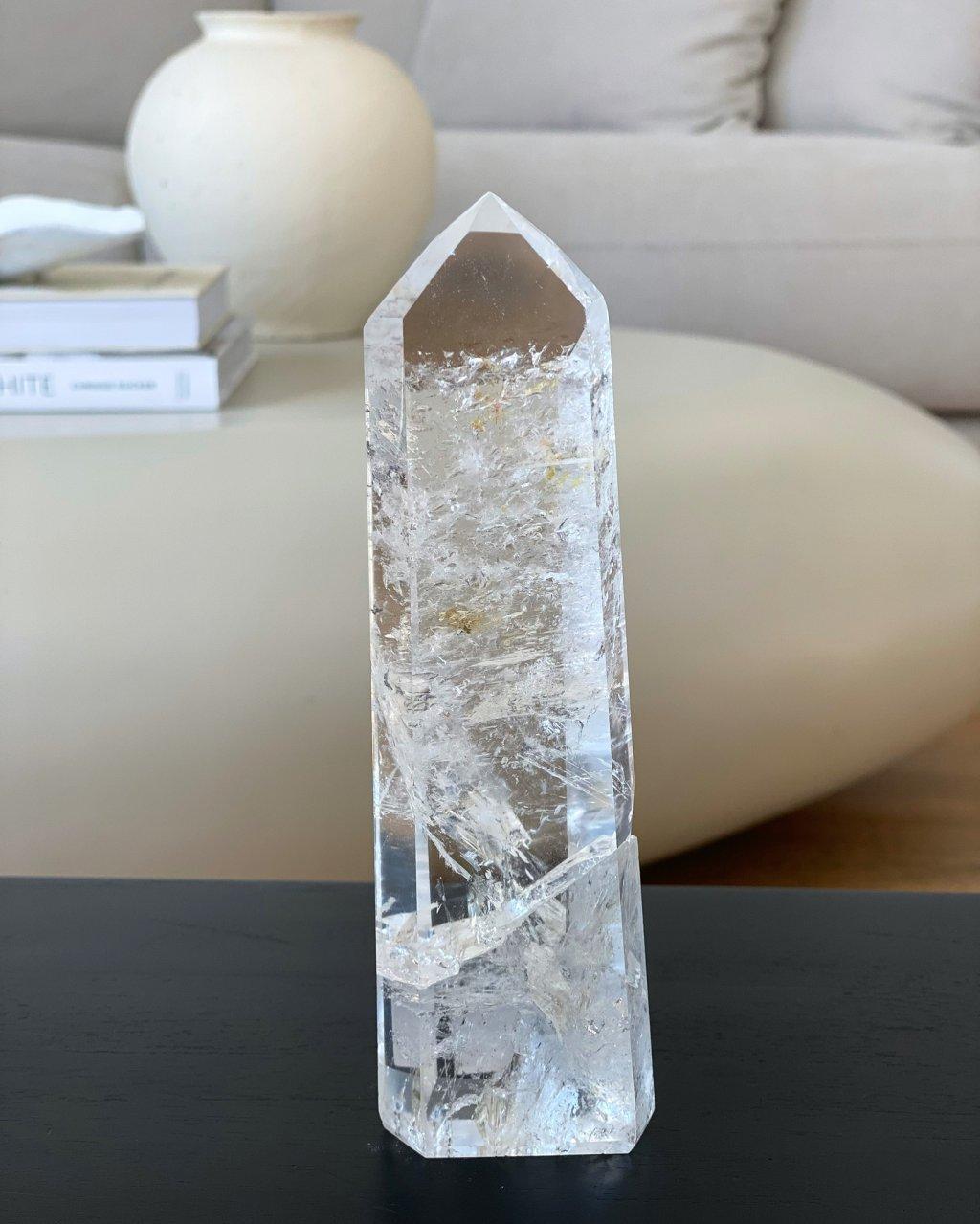 Křišťálový krystal broušený špice vysoká na prstýnek