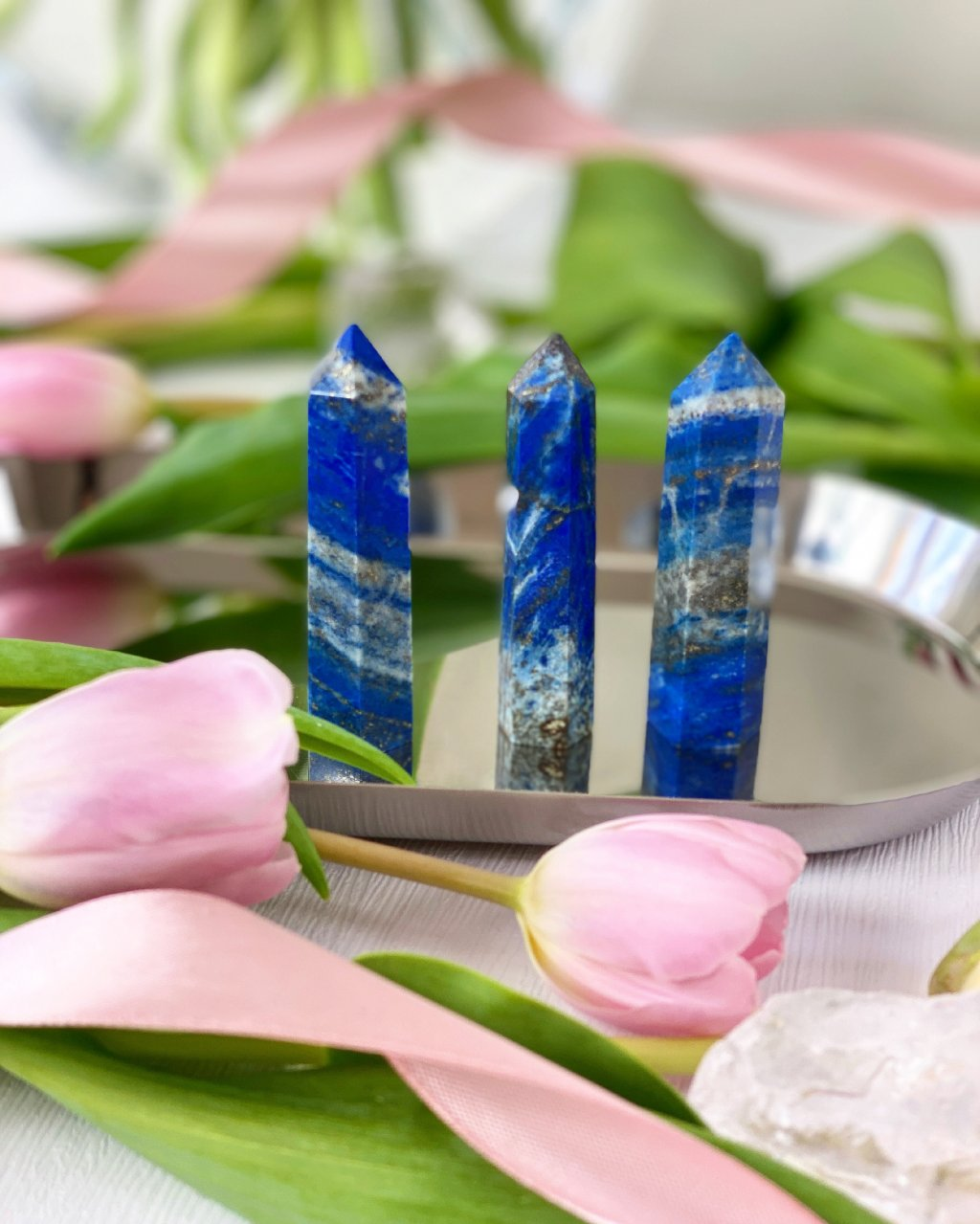 Obelisk lapis lazuli špice hrot 7cm