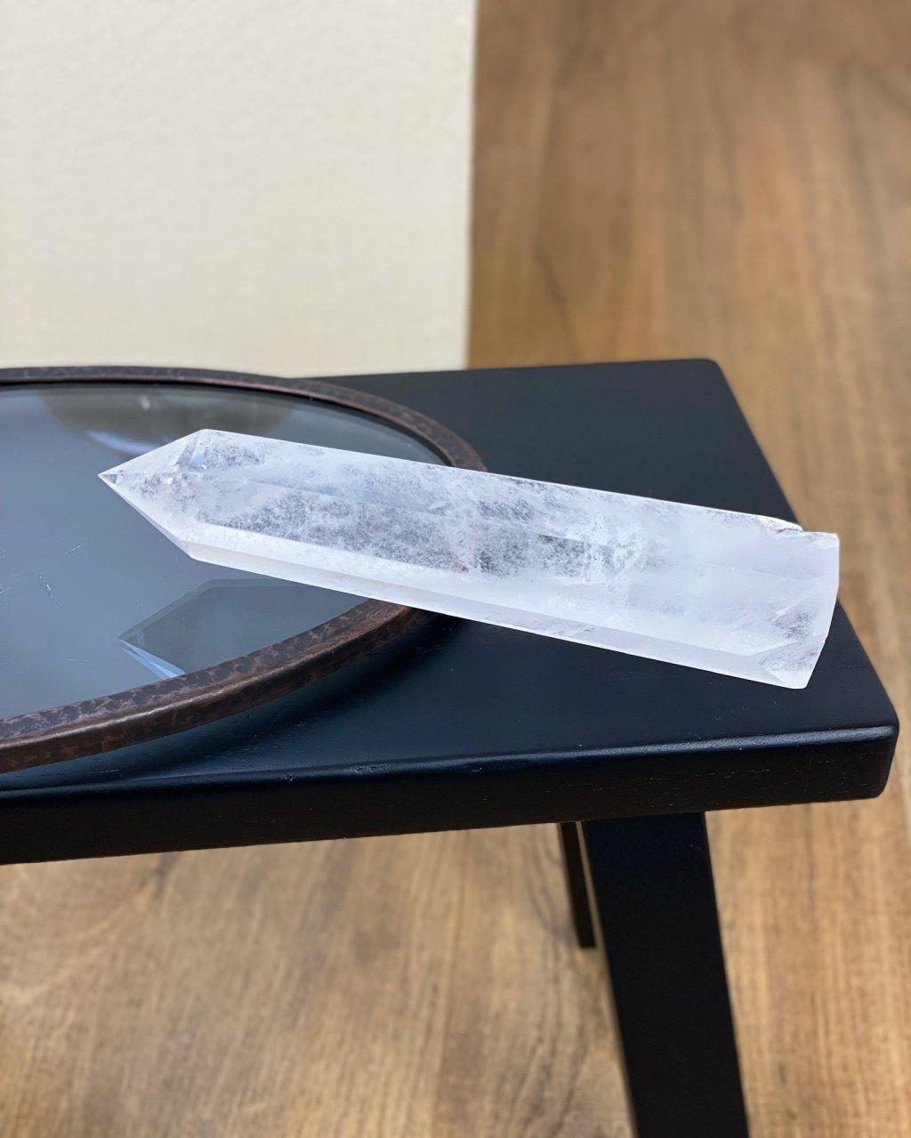 Luxusní křišťálová špice krystal Brazílie 13cm 648g AAA