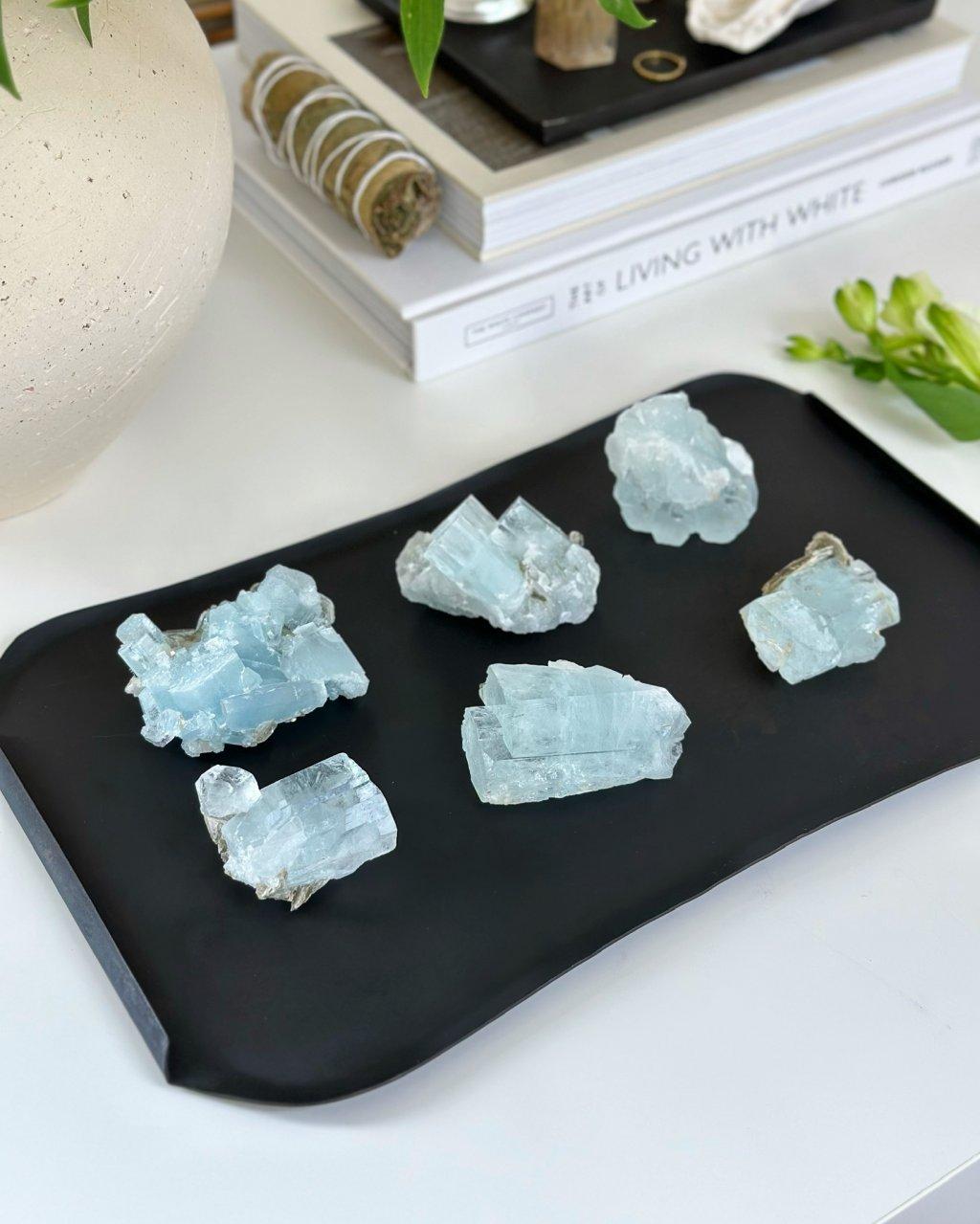 Akvamarín surový A kvalita Brazílie 1,36kg