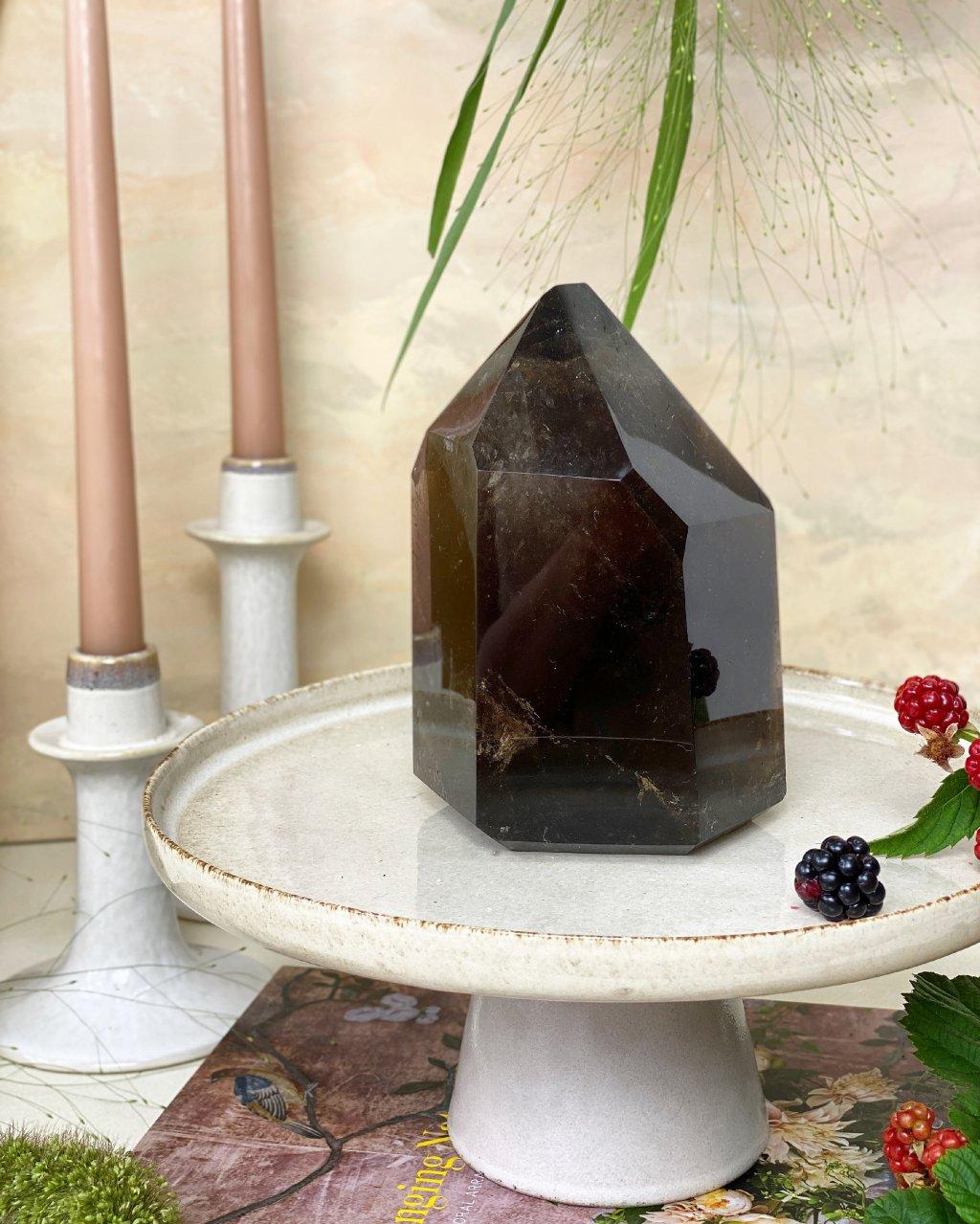 Luxusní záhněda krystal velký leštěný Brazílie 2kg