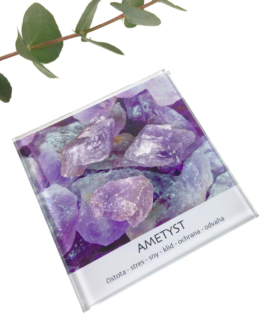 Ametyst surový kámen dekorační set