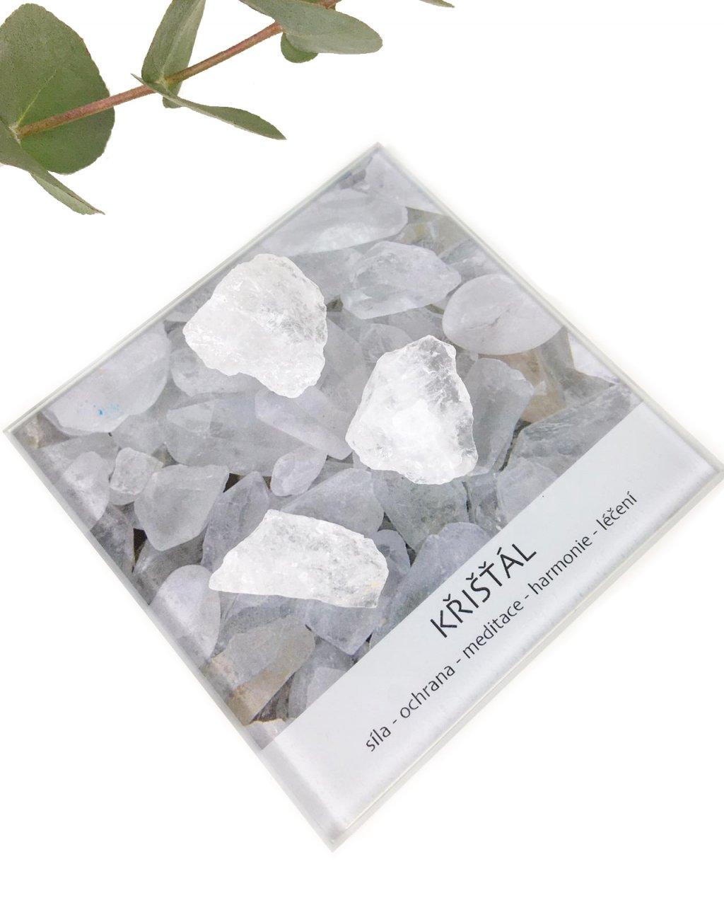 Surový křišťál minerál dekorační set