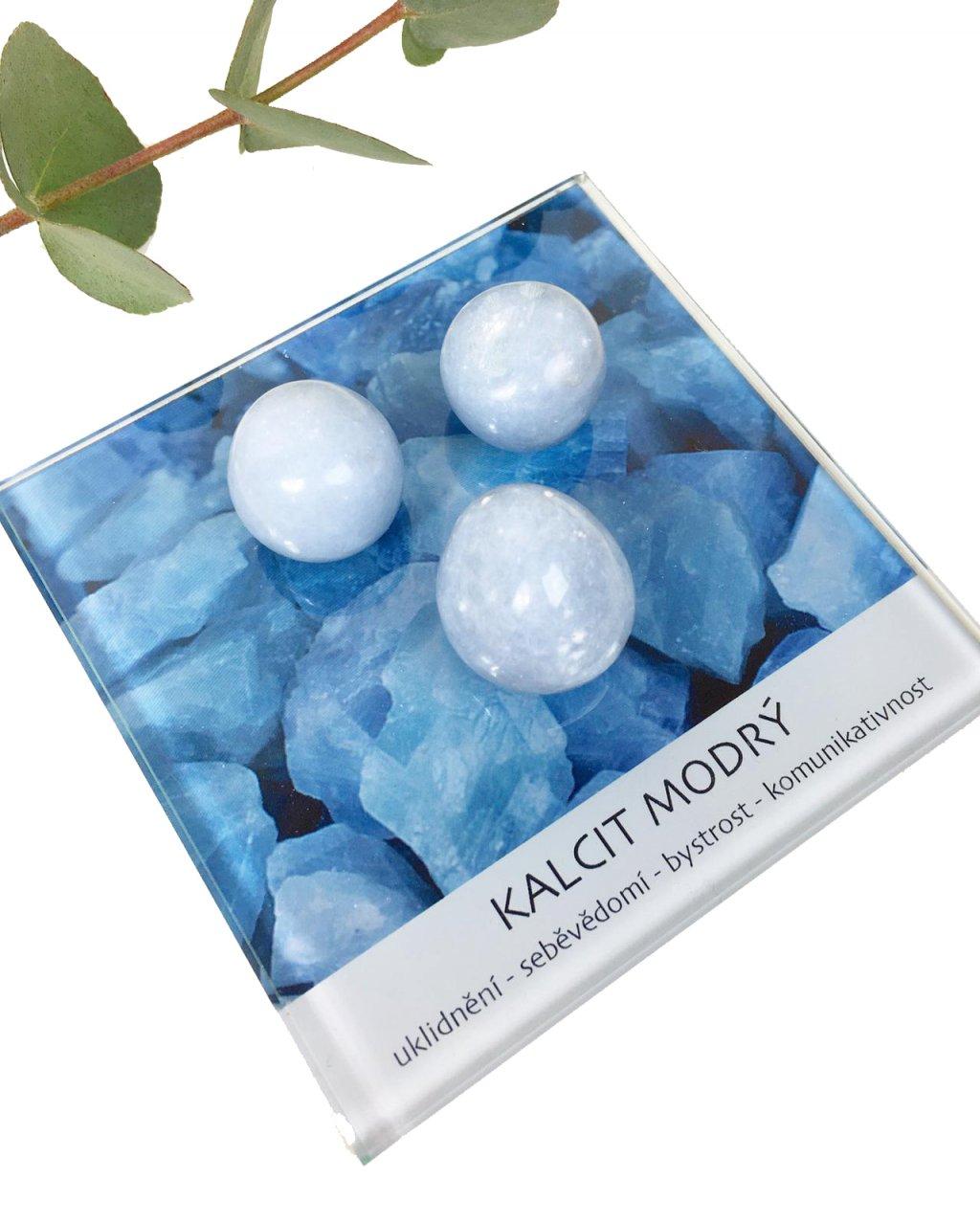Kalcit modrý minerál dekorační set
