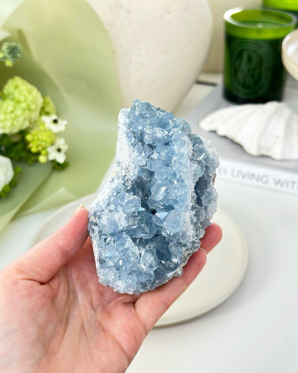 Minerál celestýn drúza Madagaskar 139g
